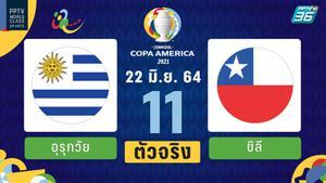 PPTV รายชื่อ 11 ตัวจริง โคปา อเมริกา 2021 อุรุกวัย พบ ชิลี 22 มิ.ย.64