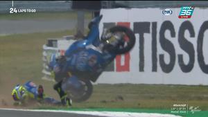 Lorenzo Dalla Porta และ Tony Arbolino ล้มตั้งเเต่ช่วงต้นของการเเข่งขัน