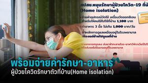 สปสช. พร้อมจ่าย ค่าอุปกรณ์ - อาหาร 3 มื้อ 14 วัน ผู้ป่วยโควิดรักษาตัวที่บ้าน  (Home isolation)