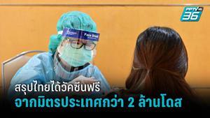 แจงไทยได้วัคซีนฟรีจากมิตรประเทศกว่า 2 ล้านโดสไม่รวมโครงการแลกเปลี่ยน