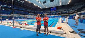 2 นักว่ายน้ำไทย ลงซ้อมสระจริง โอลิมปิก 2020 รับบรรยากาศสุดยิ่งใหญ่