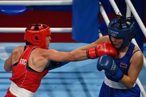 ใบสน ไล่อัดคู่ชกรัสเซีย ผ่านรอบแรก มวยโอลิมปิก 2020