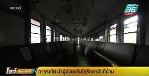 ขบวนรถไฟด่วนพิเศษ นำผู้ป่วยโควิด รักษาตัวที่บ้านเกิด เที่ยวแรก 1,489 คน