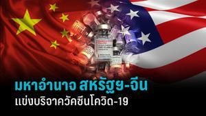 สหรัฐฯ-จีนผลัดกันขิง! ชาติมหาอำนาจแข่งบริจาควัคซีนโควิด-19