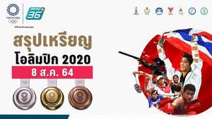 ตารางสรุปเหรียญโอลิมปิก 2020 ประจำวันวันอาทิตย์ที่ 8 ส.ค. 64