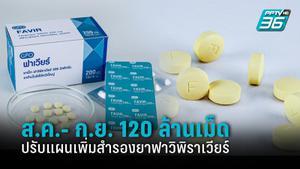 ปรับแผนเพิ่มการสำรองยาฟาวิพิราเวียร์  2 เดือน 120 ล้านเม็ด