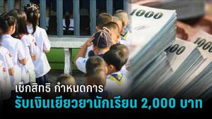 เช็กสิทธิเงินเยียวยานักเรียน - อาชีวะ - กศน. กำหนดการ วิธี ช่องทาง หลักฐานรับเงิน 2,000 บาท