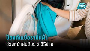 วิธีป้องกัน และทำความสะอาดเสื้อผ้าให้ปราศจากเชื้อราช่วงหน้าฝน