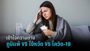 รู้ความแตกต่าง ภูมิแพ้ VS ไข้หวัด VS ไข้หวัดใหญ่ VS โควิด-19