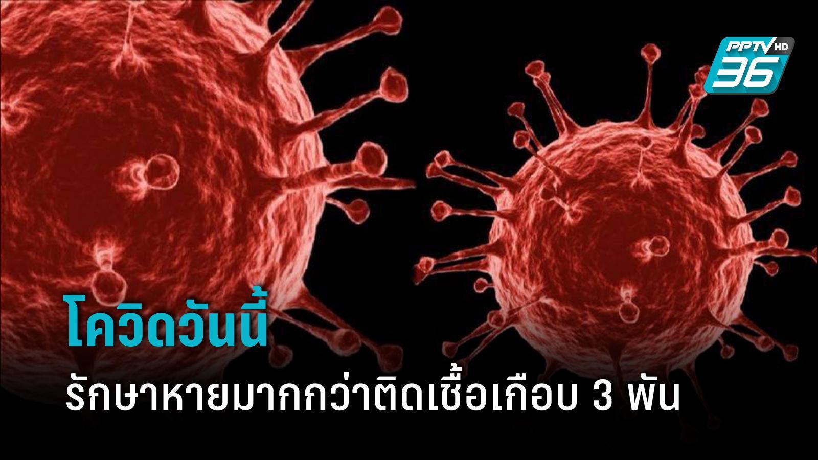 ศบค. เผย โควิดวันนี้ รักษาหายมากกว่าติดเชื้อ ยอดสะสมไทยรั้งอันดับ 29 ของโลก  : PPTVHD36