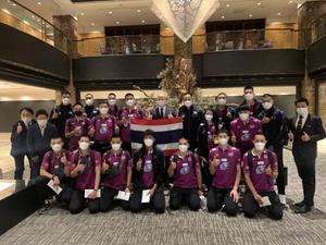 วอลเลย์บอลชายทีมชาติไทย เดินทางถึงญี่ปุ่นพร้อมทำศึกชิงแชมป์เอเชีย 2021