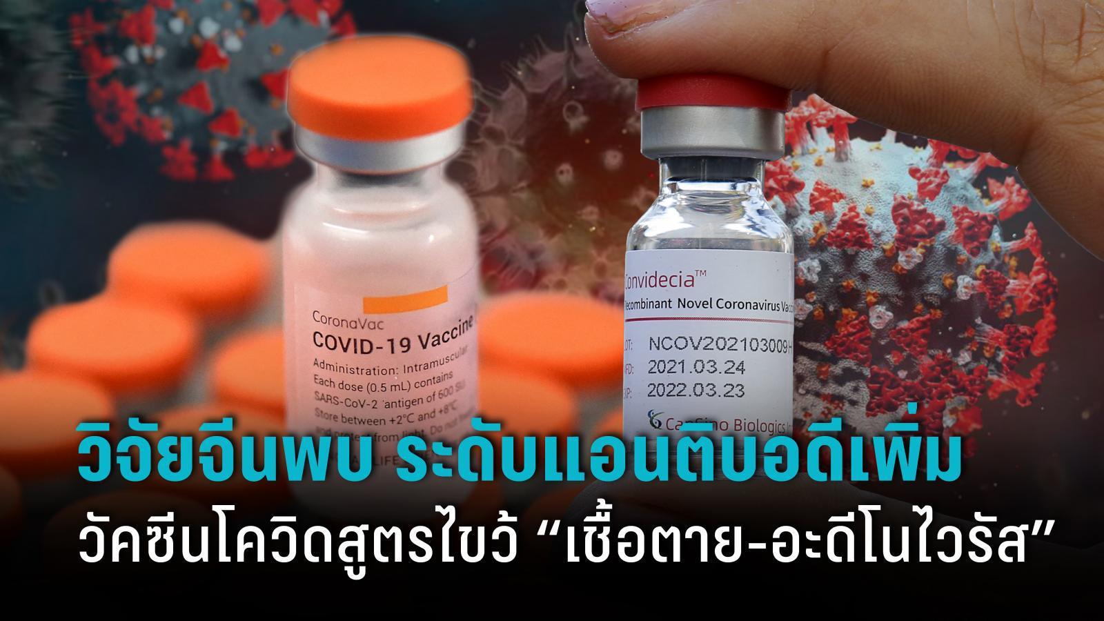"""ผลศึกษาวัคซีนโควิด-19 สูตรไขว้ """"เชื้อตาย-อะดีโนไวรัส"""" จากจีน"""