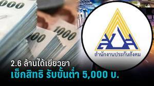 เช็กสิทธิเยียวยา ม.40 www.sso.go.th ผ่าน 2.6 ล้านคน ได้ 5,000 - 10,000 บาท ชื่อตก ทบทวนสิทธิ!