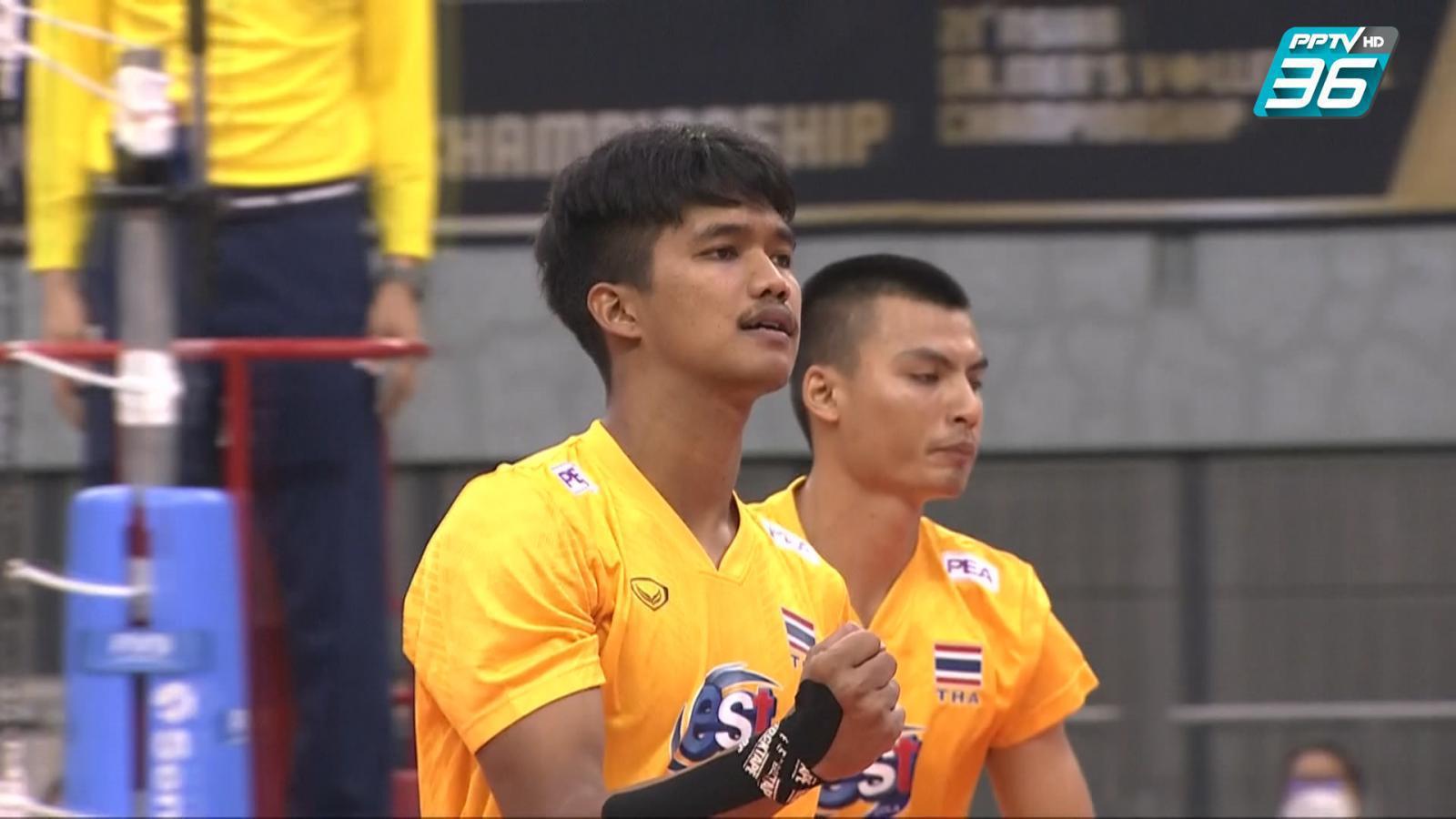 ไฮไลท์   พีพีทีวี วอลเลย์บอลชาย เจวีเอ ชิงชนะเลิศแห่งเอเชีย   ไทย พบ ฮ่องกง    14 ก.ย. 64