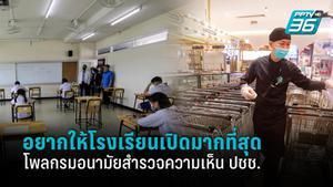 โพลกรมอนามัย คนไทยอยากให้โรงเรียนเปิดมากที่สุด