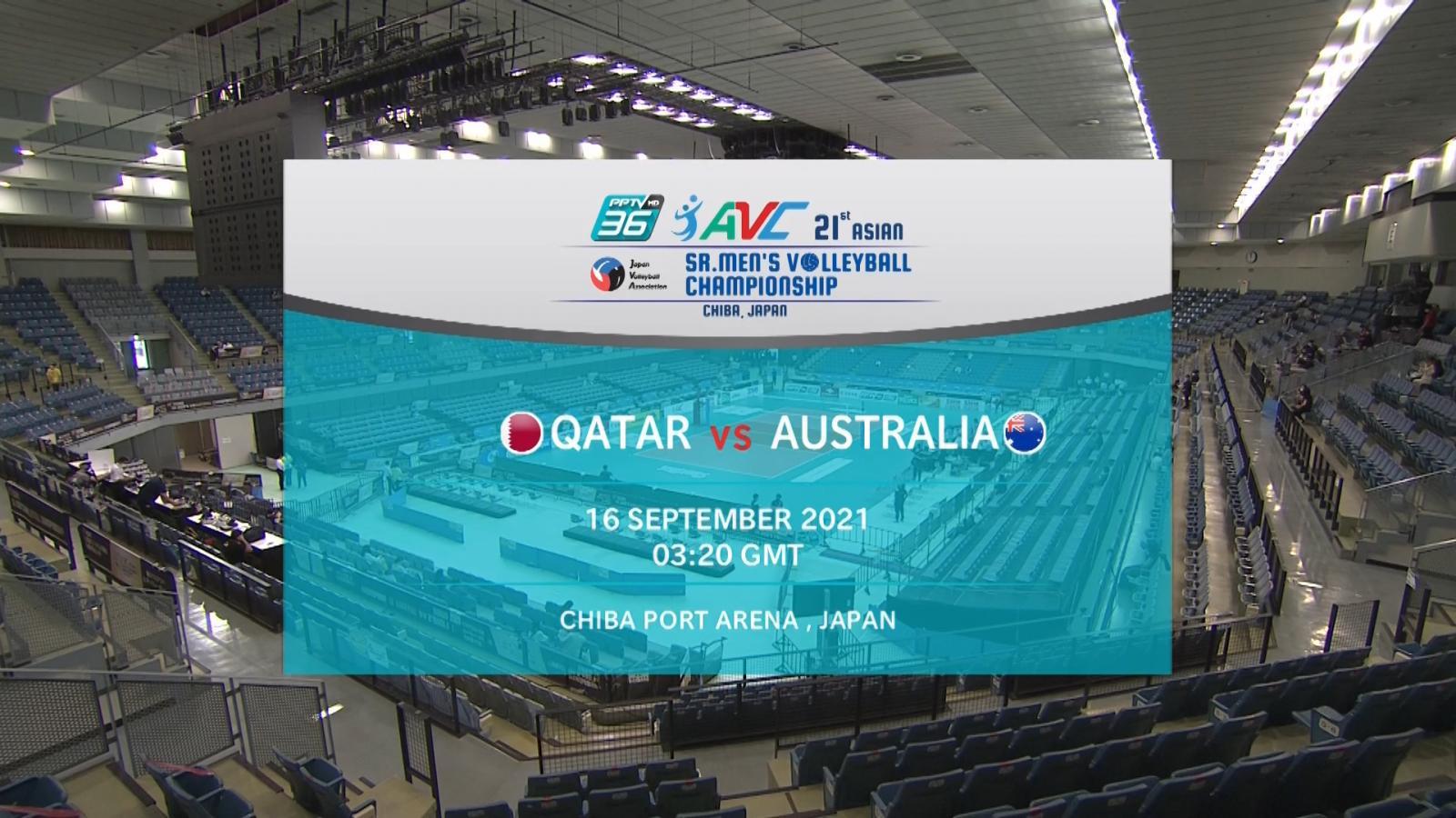 Full Match | พีพีทีวี วอลเลย์บอลชาย เจวีเอ ชิงชนะเลิศแห่งเอเชีย | กาตาร์ พบ ออสเตรเลีย | 16 ก.ย. 64