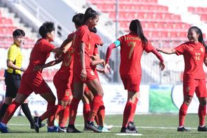 ฟุตบอลหญิงทีมชาติไทย ประเดิมทุบ มาเลเซีย 4-0 ชิงแชมป์เอเชีย รอบคัดเลือก