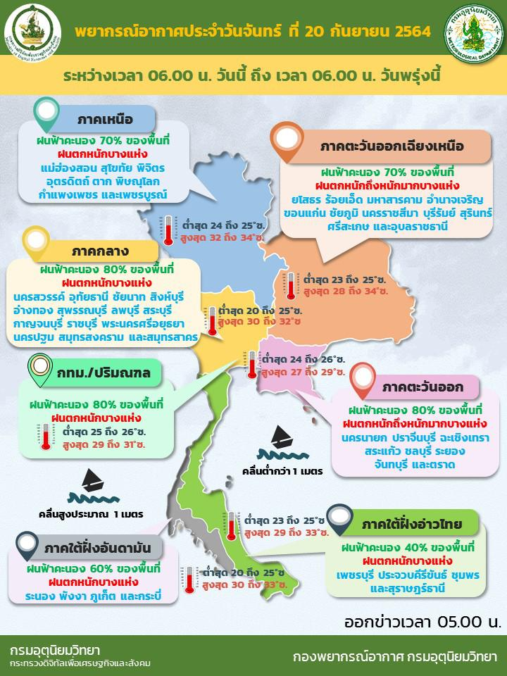 อุตุฯ เตือน มรสุมเข้าไทยระวังน้ำท่วม-ฝนตกหนักร้อยละ 80 ของพื้นที่