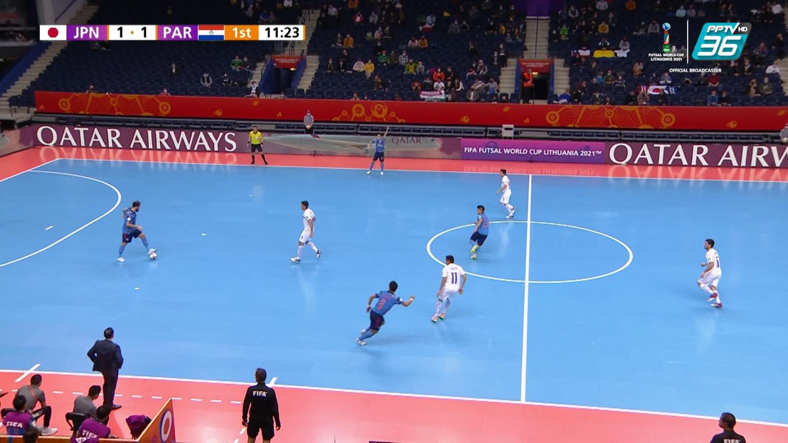 Full Match | ฟีฟ่า ฟุตซอล เวิลด์ คัพ 2021 | ญี่ปุ่น 1-2 ปารากวัย | 20 ก.ย. 64