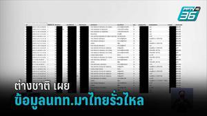 สื่อต่างชาติ เผย ข้อมูลนักท่องเที่ยวมาไทย 106 ล้านราย รั่วไหล