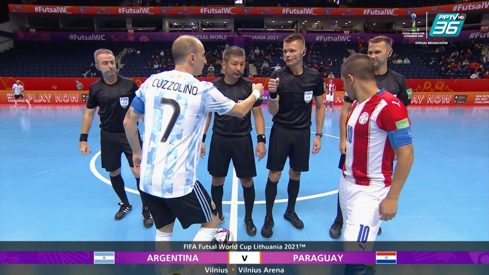 Full Match   ฟีฟ่า ฟุตซอล เวิลด์ คัพ 2021   อาร์เจนตินา 6-1 ปารากวัย   23 ก.ย. 64