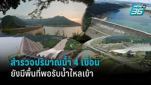สำรวจปริมาณน้ำ 4 เขื่อนหลักของไทย ยังพร้อมรับน้ำไหลเข้าอีก