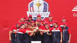ทีมสหรัฐฯ  ชนะ ยุโรป ขาดลอย คว้าแชมป์กอล์ฟไรเดอร์ คัพ สมัยที่ 27