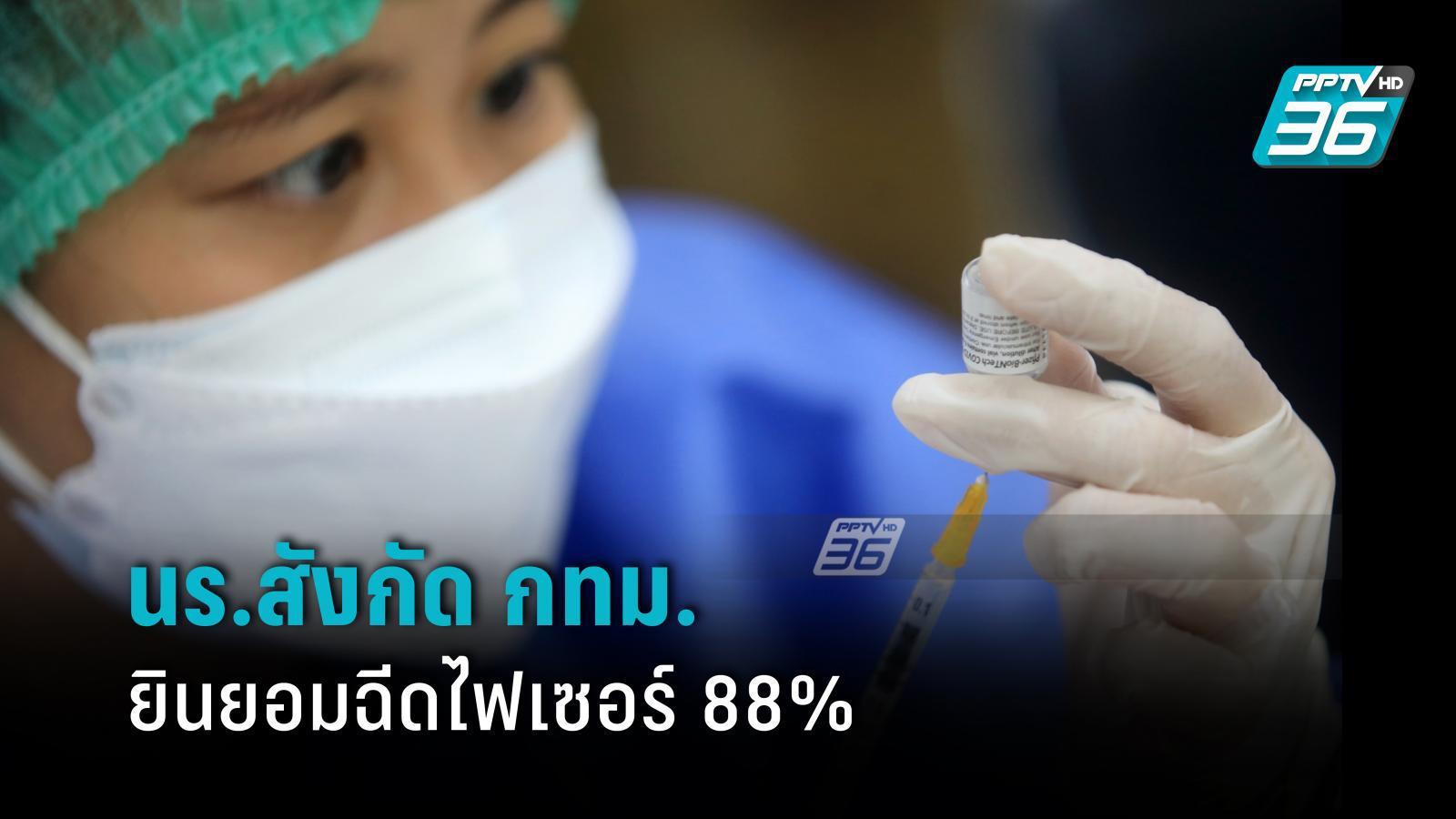 กทม. เผย นร.ในสังกัด ยินยอมฉีดไฟเซอร์ 88.21%