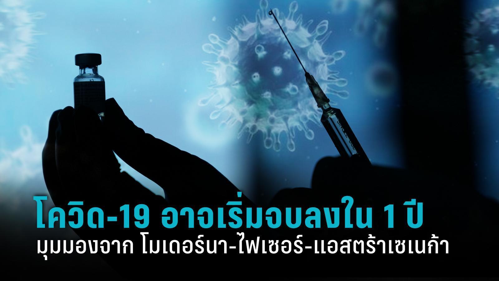 3 บริษัทผลิตวัคซีน มองโควิด-19 อาจเริ่มจบลงภายใน 1 ปี