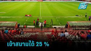 ศบค.ไฟเขียว 29 จังหวัดสีแดงเข้ม แฟนบอลเข้าสนามได้ 25% เริ่ม 1 ต.ค.นี้