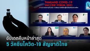 """เช็กความคืบหน้า """"วัคซีนโควิด-19สัญชาติไทย"""" ทุกตัวล่าสุด"""