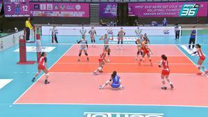 ไฮไลท์ | พีพีทีวี วอลเลย์บอลสโมสรหญิง ชิงแชมป์เอเชีย | เรบิสโก 0 - 3 อัลกาย วีซี | 1 ต.ค. 64