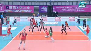 ไฮไลท์ | พีพีทีวี วอลเลย์บอลสโมสรหญิง ชิงแชมป์เอเชีย | เชทิสซู 0 - 3 ไซปา | 5 ต.ค. 64