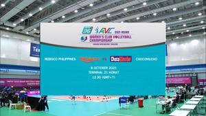Full Match | พีพีทีวี วอลเลย์บอลสโมสรหญิง ชิงแชมป์เอเชีย | เรบิสโก 1 - 3 โชโก มูโช | 6 ต.ค. 64