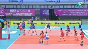 ไฮไลท์   พีพีทีวี วอลเลย์บอลสโมสรหญิง ชิงแชมป์เอเชีย   เรบิสโก 1 - 3 โชโก มูโช   6 ต.ค. 64
