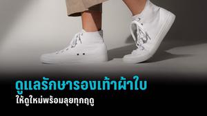 วิธีดูแลรักษา รองเท้าผ้าใบ ให้ดูใหม่ พร้อมลุยทุกฤดู
