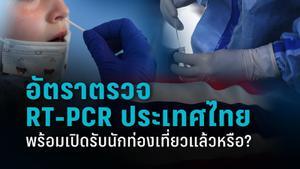 อัตราตรวจหาโควิด-19 แบบ RT-PCR ของไทย พร้อมรับนักท่องเที่ยวแล้วหรือ?
