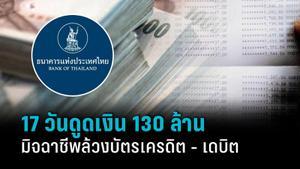 17 วัน มิจฉาชีพดูดเงิน 130 ล้าน ล้วงบัตร 10,700 ใบ แบงก์ชาติ - ส.ธนาคาร ออก 4 มาตรการ คืนเงินภายใน 5 วัน