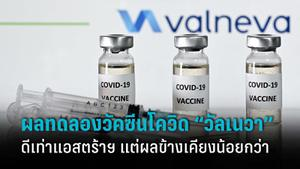 """""""วัลเนวา"""" โชว์ผลวัคซีนโควิดตัวใหม่ ดีเท่าแอสตร้าฯ-ผลข้างเคียงน้อยกว่า"""