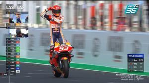 Marc Marquez  เข้าเส้นชัยที่ 1 คว้าเเชมป์ MotoGP 2021 สนามที่ 16