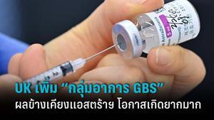 """สหราชอาณาจักร เพิ่ม """"กลุ่มอาการ GBS"""" ผลข้างเคียงวัคซีนแอสตร้าเซเนก้า"""